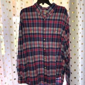 Men's J. Crew plaid button down shirt XL